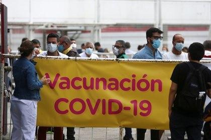 Campaña de vacunación en Buenos Aires. Argentina. Foto de archivo February 3, 2021 REUTERS/Matias Baglietto