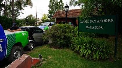 La entrada del country donde estaba Maradona antes de morir (Franco Fafasuli)