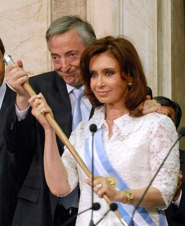 Néstor Kirchner y Cristina Kirchner (NA)