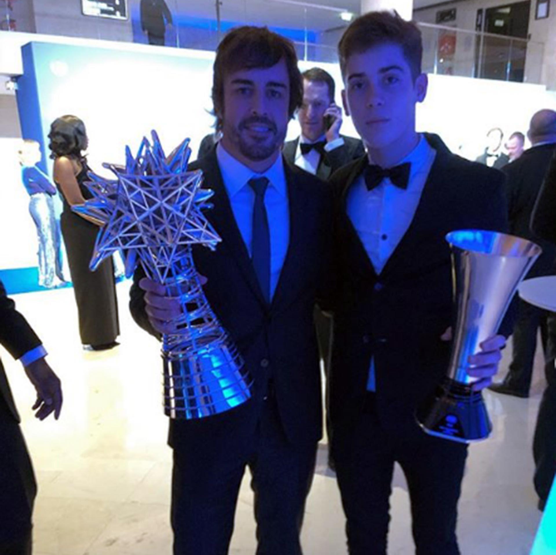 Con Fernando Alonso en la gala de la FIA de 2019