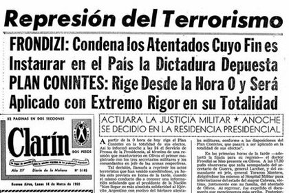 A través del Plan Conintes y del estado de sitio, el presidente Arturo Frondizi buscó la paz social.