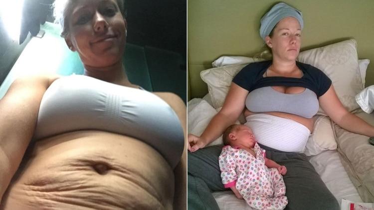 Kendra tiene dos hijo sy así mostró en Instagram las huellas de la maternidad