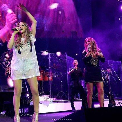 Karina la convocó a cantar con ella en el Luna Park