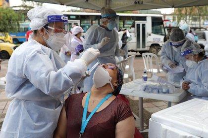 Duque destacó la lucha de Colombia contra el coronavirus (EFE/ Carlos Ortega)