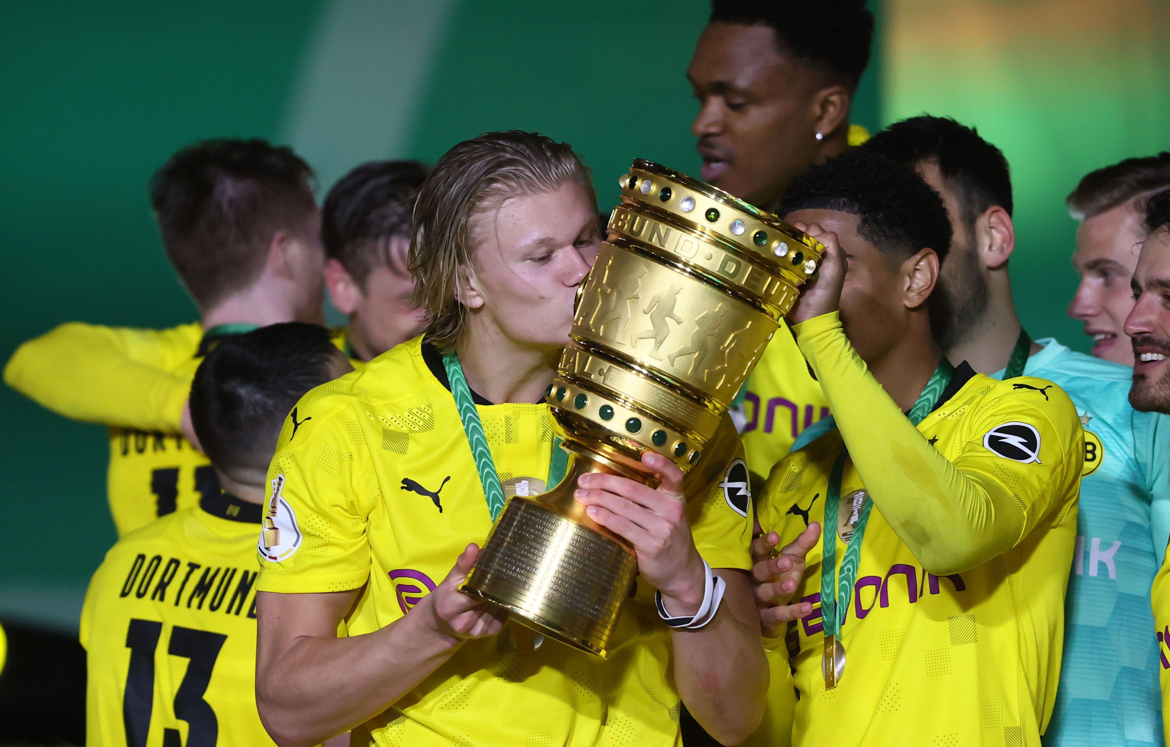 El noruego ganó su primer título con la camiseta del Dortmund (Foto: REUTERS)