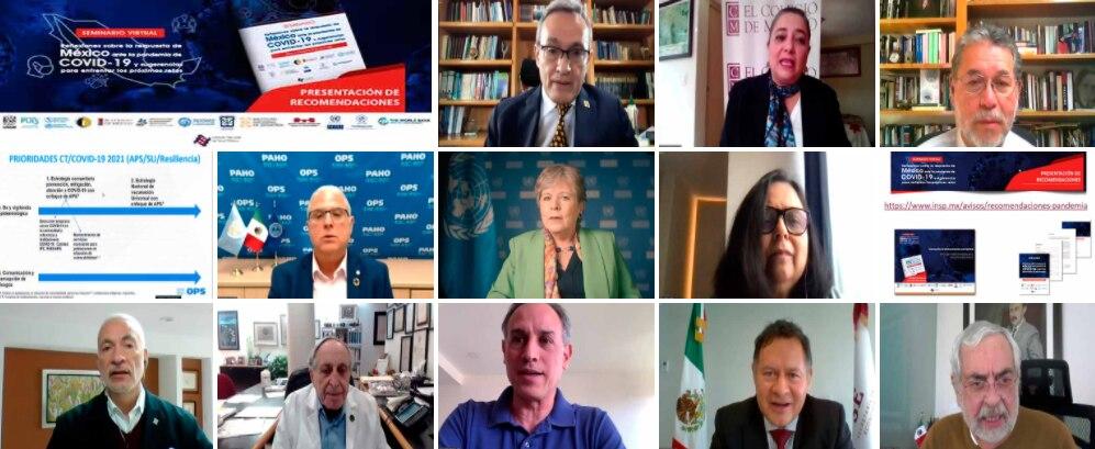Instituciones educativas, gubernamentales e internacionales participaron en la presentación de resultados sobre COVID-19 organizada por la UNAM (Foto: captura de pantalla)