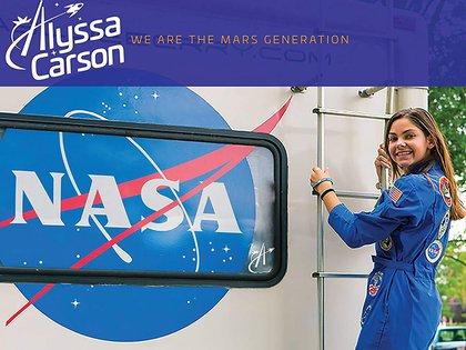 Alyssa en uno de sus entrenamientos en EEUU (Nasa)