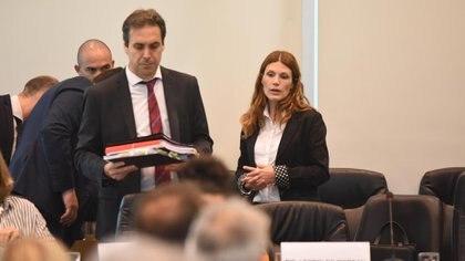 El magistrado, cuando expuso en el Senado (Foto: Joaquin Garcia Conde)