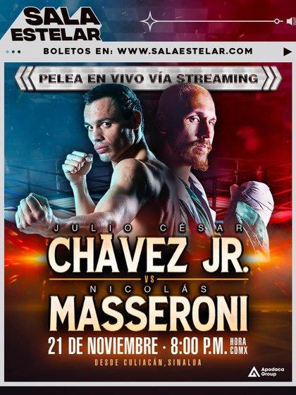 El anuncio de la pelea entre Chávez Jr. y Nicolás Masseroni, que finalmente fue cancelado