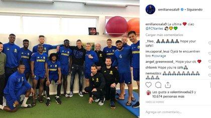 El delantero Emiliano Sala había regresado a Nantes para despedirse de sus compañeros de equipo