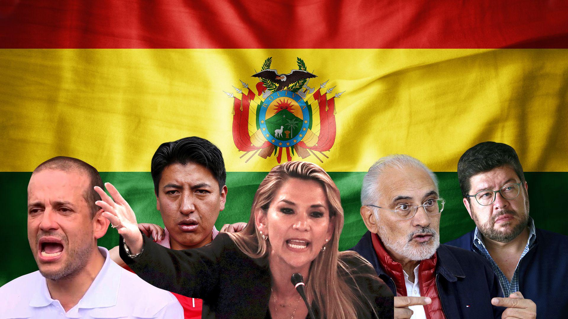Luis Fernado Camacho, Marcos Pumari, Jeanine Áñez, Carles Mesa y Samuel Doria Medina intercambiaron fuertes críticas y recriminaciones públicas en la última semana en la pelea por diferenciarse y hacerse un lugar en un eventual balotaje presidencial.