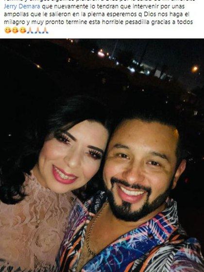 """Su esposa continuó actualizando detalles sobre la condición médica del apelante. """"el amor de mi vida""""(Foto: Facebook Claudia Plascencia)"""