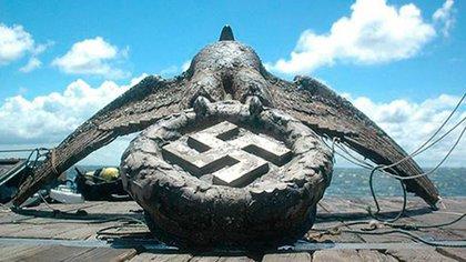 El águila del buque nazi Graf Spee
