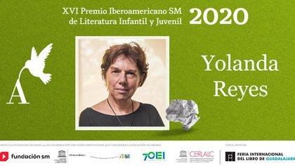 Yolanda Reyes ganadora del Premio Iberoamericano SM. de Literatura Infantil Y Juvenil, Extraído de @FILGuadalajara.