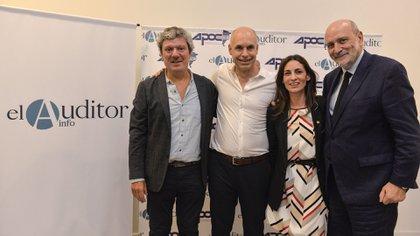 Federico Recagno, Horacio Rodríguez Larreta, Carla Pitiot y Jesús Rodríguez