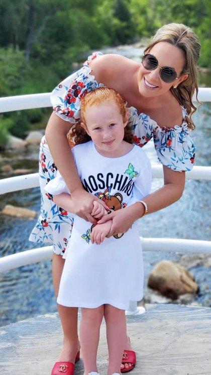 Natalia Denegri junto a su hija Nicole