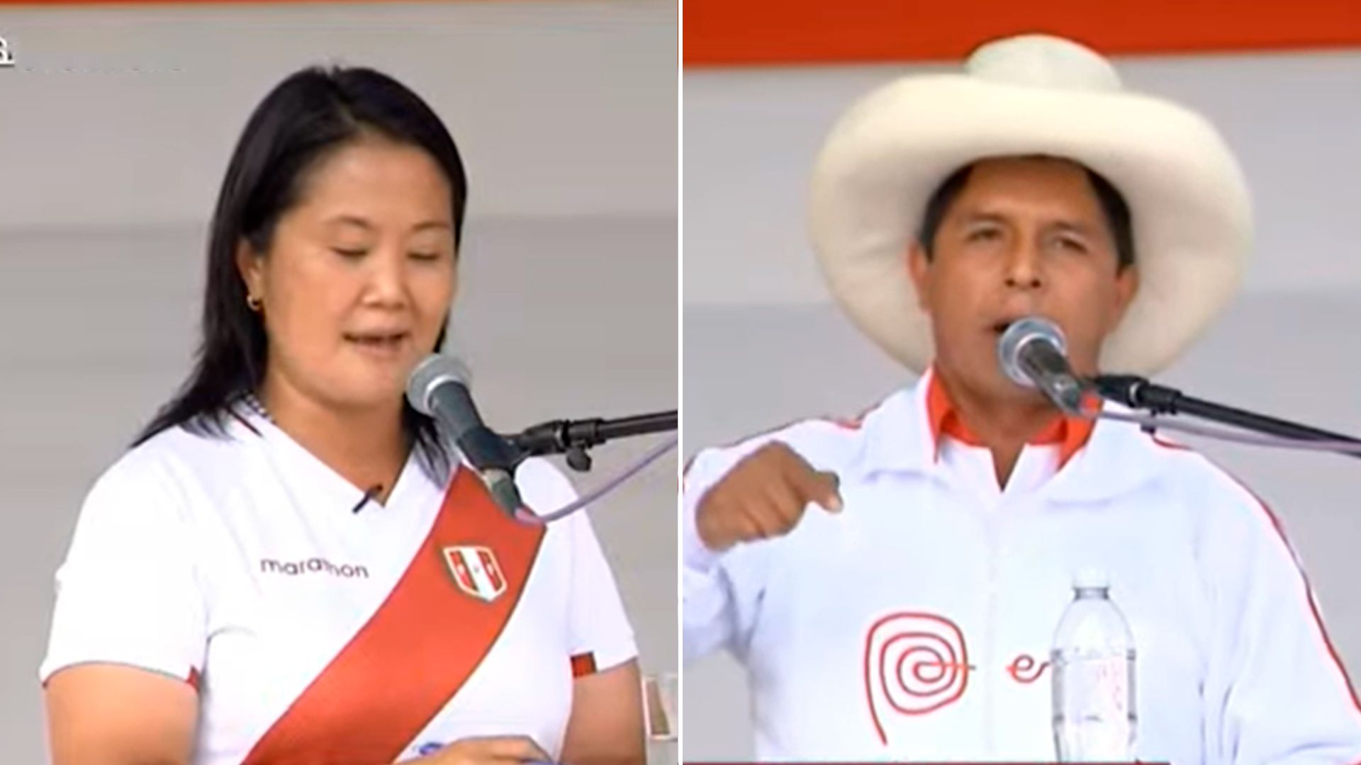 Debate Castillo- Fujimori en Perú