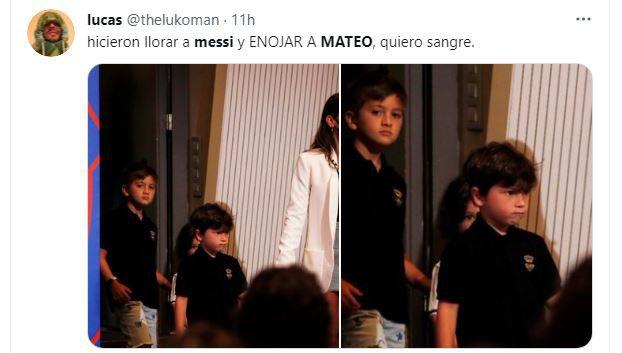Memes de Ciro y Mateo Messi en la despedida de Lionel del Barcelona