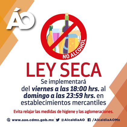 Alcaldías de la Ciudad de México compartieron a través de sus redes sociales las medidas implementadas (Foto: Twitter@AlcaldiaAO)