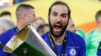 Gonzalo Higuaín conquistó la Europa League con el Chelsea (Reuters)