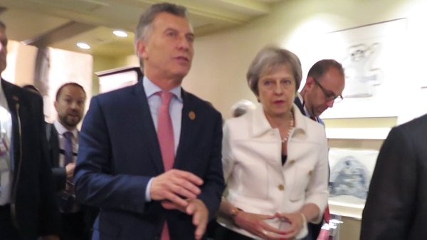El presidente Mauricio Macri y Theresa May