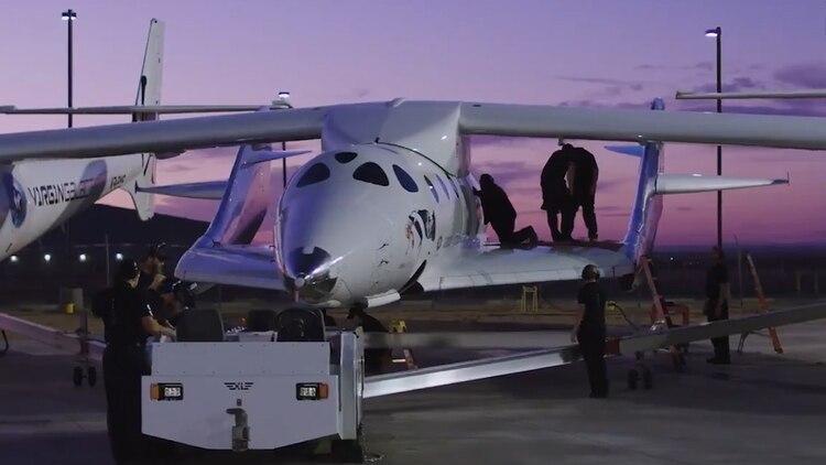 En febrero se realizó el primer viaje tripulado a bordo del SpaceShip Two. (Foto: Virgin Galactic)