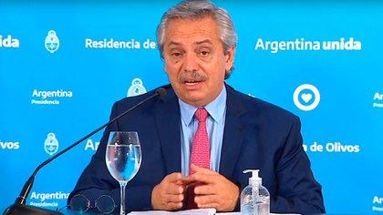 El presidente de la Nación, Alberto Fernández