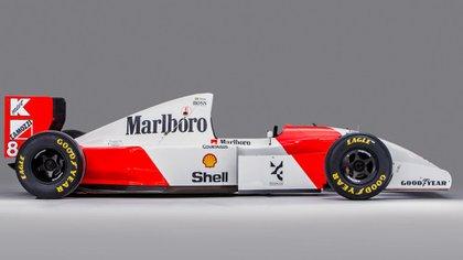El McLaren MP4/8A que se subastó en 2018