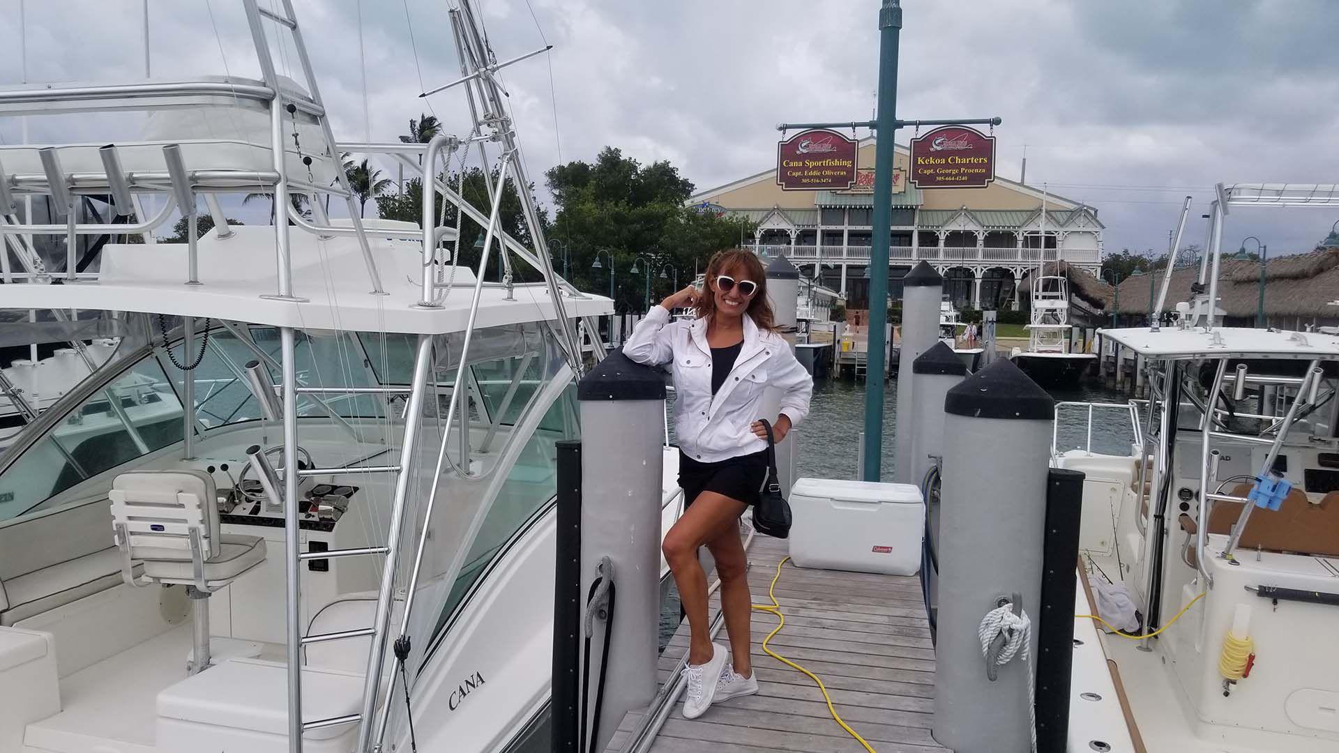 Nancy en Isla Morada, Key West