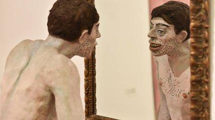 "Detalle de ""Narciso de mataderos o El espejo"" (1984-1985)"