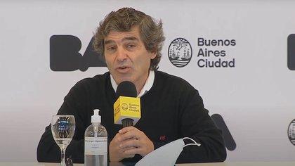 Fernán Quirós, ministro de Salud de la Ciudad