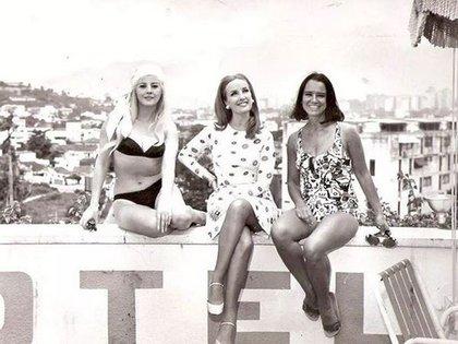 Libertad Leblanc con Mirtha Legrand y Olga Zubarry