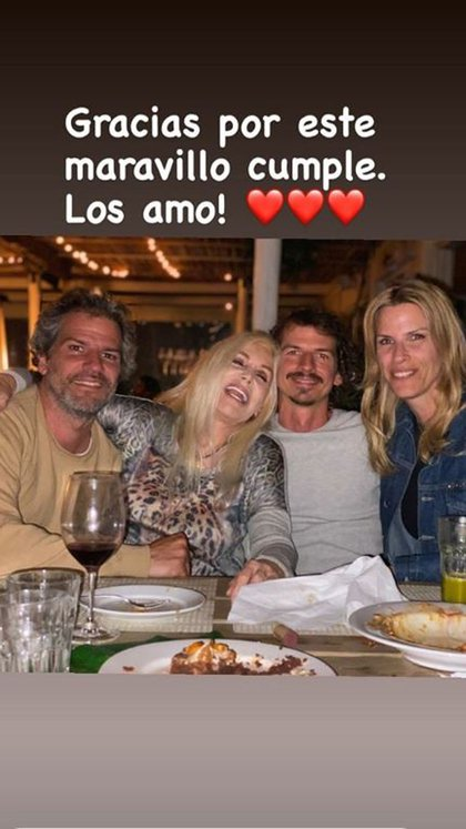 Patricio junto a sus hermanos: Susana, Federico y Carolina (Foto: Instagram)