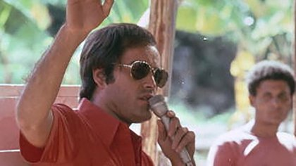 Jim Jones en Jonestown, Guyana, en 1978