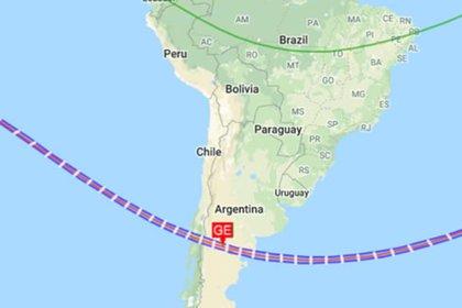 Argentina y Chile volverán a tener el paso del eclipse total, tal como sucedió en 2019 (Planetario de San Luis)