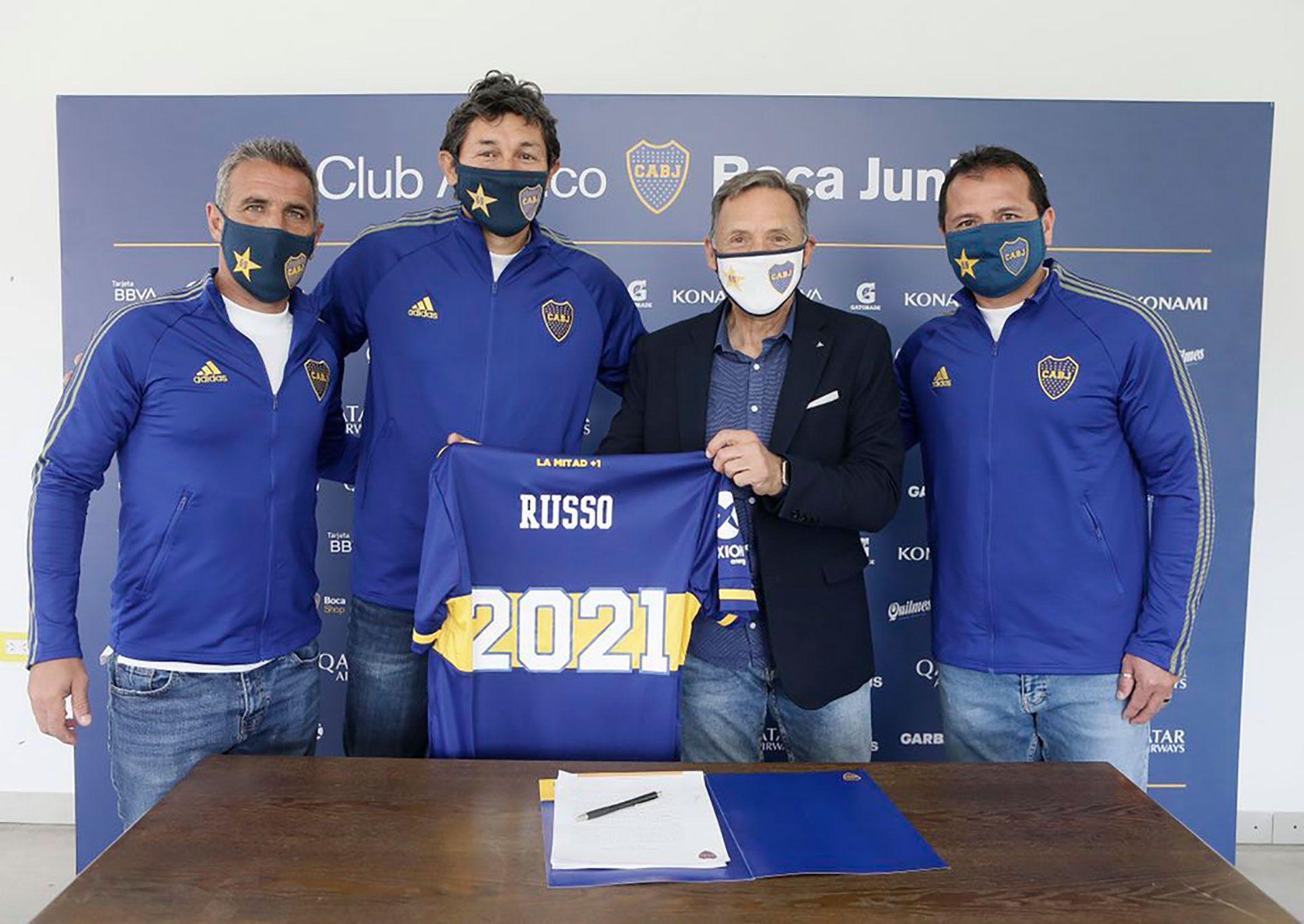 renovación de contrato de Russo en Boca