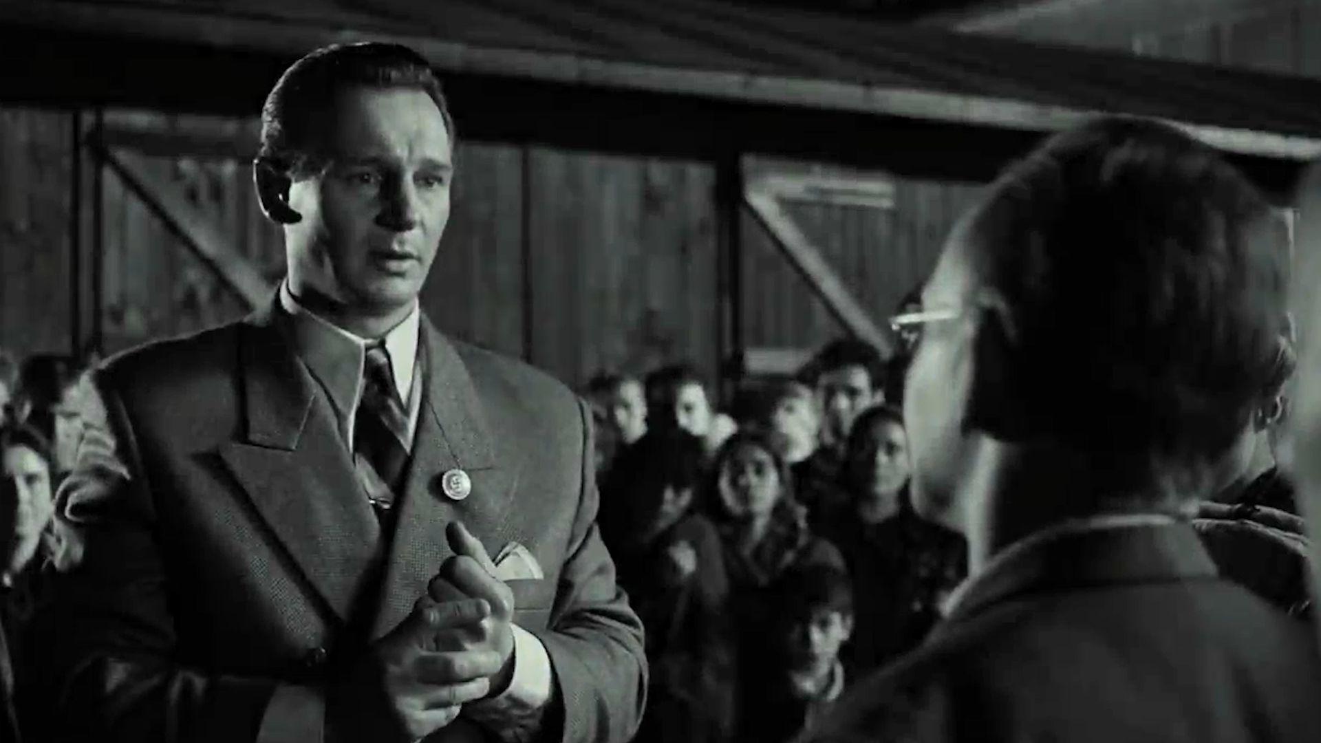 Oskar Schindler interpretado por Liam Neeson en la película de Steven Spielberg