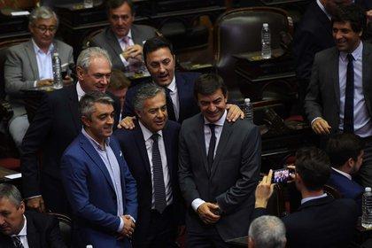 El ex mandatario mendocino en su nuevo rol como diputado nacional (Maximiliano Luna)