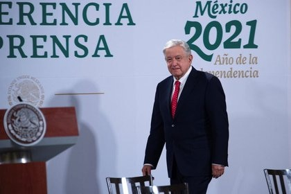 Archive image.  The president of Mexico, Andrés Manuel López Obrador, attends a press conference in which he wished everything went well for the president-elect of the United States, Joe Biden, before his inauguration later in the day, at the Palace Nacional in Mexico City, Mexico.  January 20, 2021. REUTERS / Presidencia de México / NEITHER RESALES NOR FILES