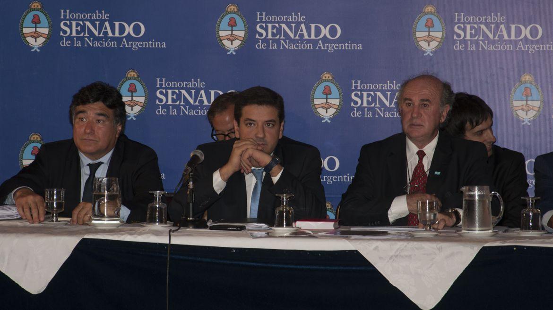 Oscar Parrilli, Juan Martín Mena y Carlos Zannini (archivo Adrián Escandar)