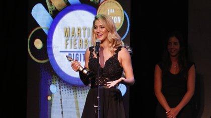 Flor Vigna, conductora y ganadora de la noche (Nicolás Aboaf)