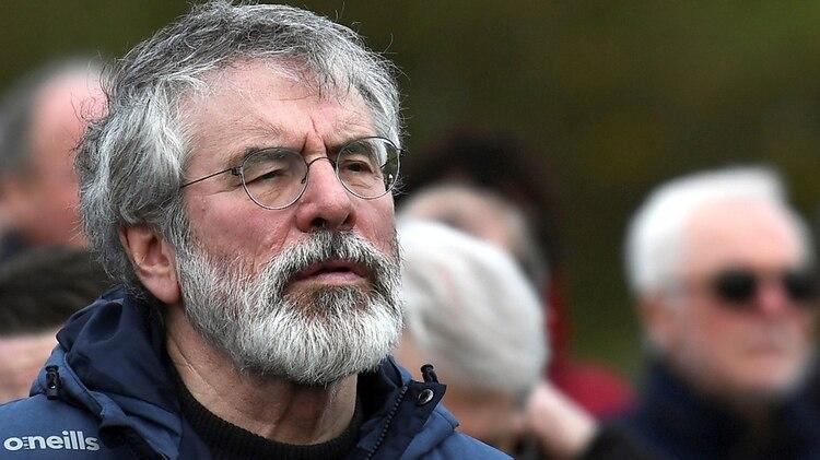 Gerry Adams, ex presidente del Sinn Féin, el partido republicano de Irlanda del Norte, acusado de haber sido antes uno de los líderes del IRA Provisional,está entre los que piden una votación para decidir la reunificación de Irlanda(REUTERS/Clodagh Kilcoyne)