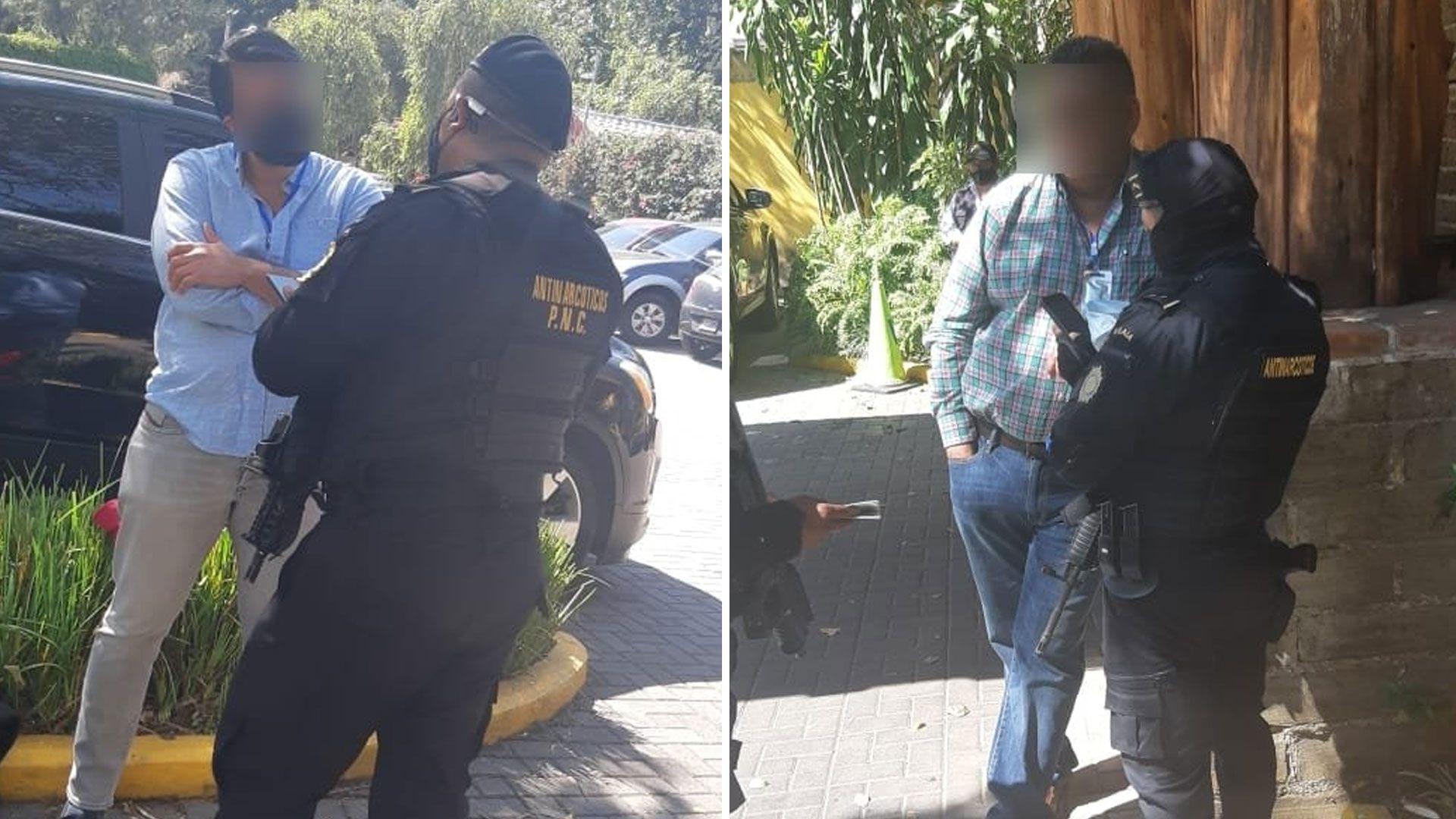Adalberto Fructuoso Comparán Rodríguez (Izquierda) fue detenido en la ciudad de Guatemala (Foto: Twitter/Vía @MPguatemala)