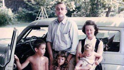 Kurt Vonnegut y su familia