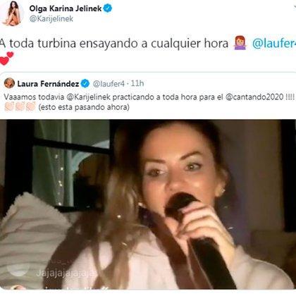 """Laurita Fernández se sorprendió por un ensayo de Karina en Instagram, antes de su debut en el """"Cantando 2020"""""""