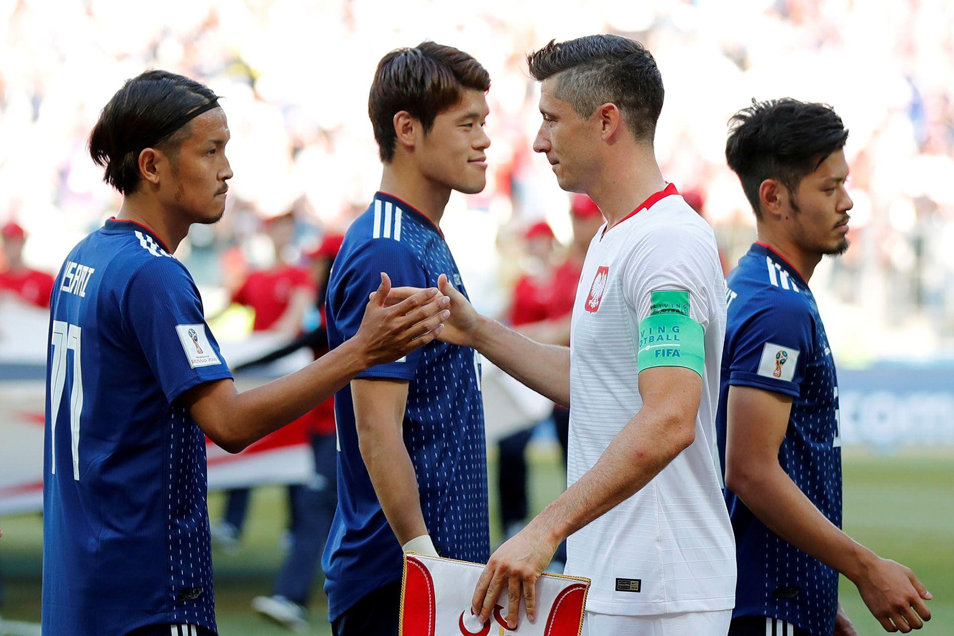 Robert Lewandowski fue el capitán de Polonia en el Mundial de Rusia 2018 (REUTERS)