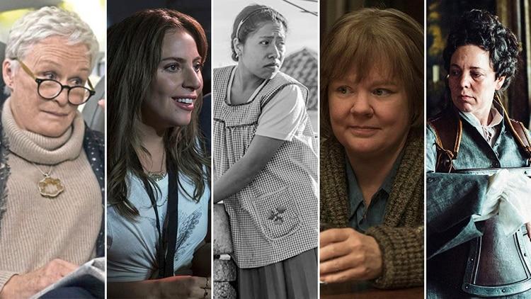 Glenn Close, Lady Gaga, Yalitza Aparicio, Melissa McCarthy y Olivia Colman competirán por el Oscar a mejor actriz protagónica