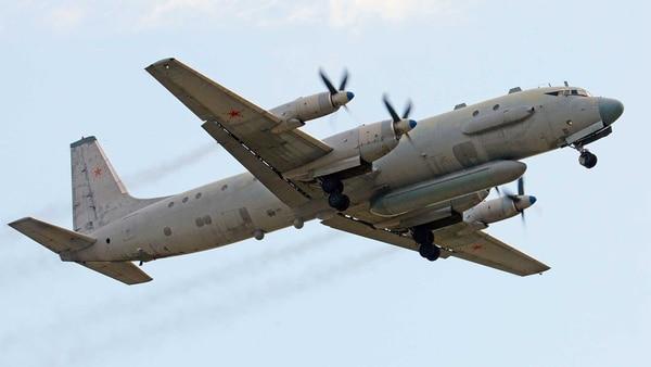 Un avión ruso Ilyushin Il-20, como el derribado sobre Siria