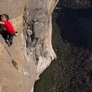 Alex Honnold free solo climbing on El Capitan's Freerider in Yosemite National Park. (National Geographic/Jimmy Chin)