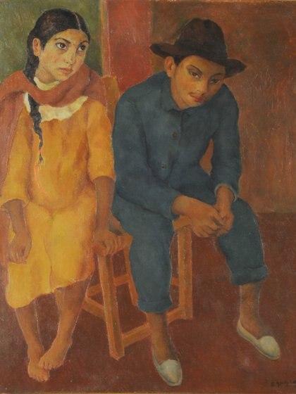 """""""Santiagueños"""" (1927) de Ramón Gómez Cornet"""